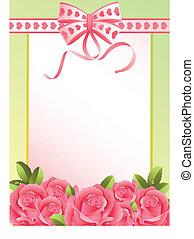 cartão, saudação