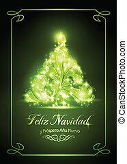cartão, tarjeta, natal, navidad, de