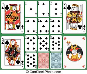 cartões, clube, tocando, paleto