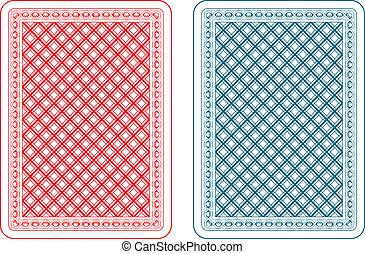 cartões, epsilon, tocando, costas