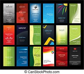 cartões, jogo, negócio, verical