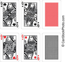 cartões, vetorial, tocando