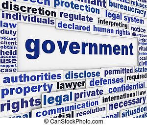 cartaz, conceito, governo