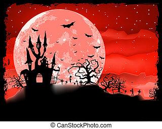 cartaz, dia das bruxas, eps, zombie, experiência., 8