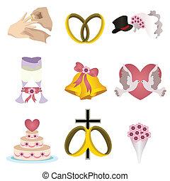 casório, ícones