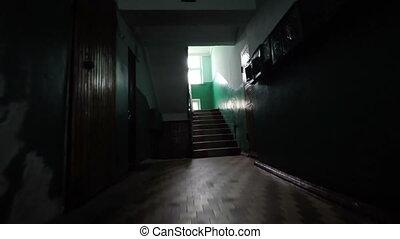 casa, antigas, escadaria