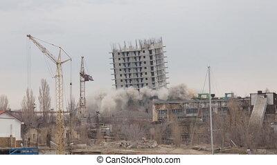 casa, explosão, mal sucedido