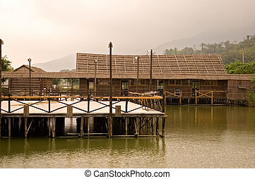 casa, ponte madeira