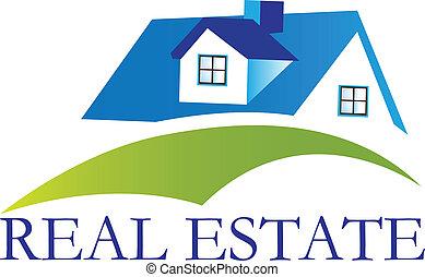 casa, real, logotipo, vetorial, propriedade