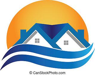 casa, real, -, logotipo, vetorial, propriedade