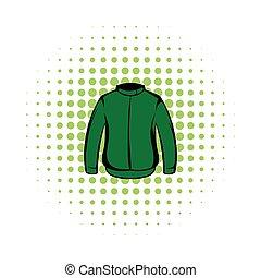 casaco, cômico, paintball, protetor, ícone