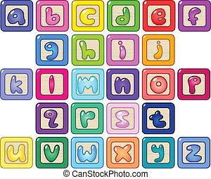 caso, alfabeto, abaixar, blocos