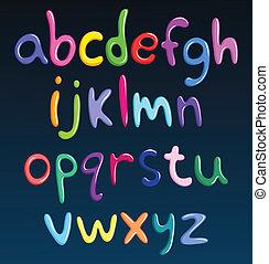 caso, alfabeto, abaixar, espaguete, coloridos