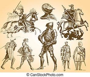 cavaleiros, heráldica