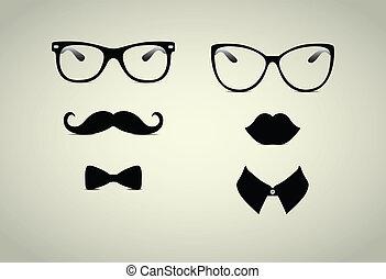 cavalheiro, hipster, senhora, icohs