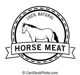 cavalo, emblema, carne