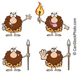 caveman, macho, cobrança