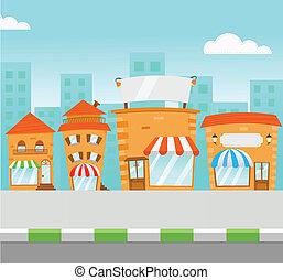 centro comercial, faixa