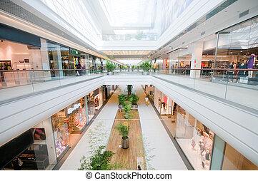 centro comercial, modernos, shopping