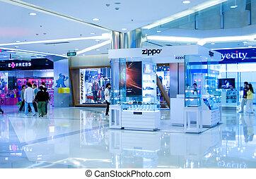 centro comercial, shanghai, shopping