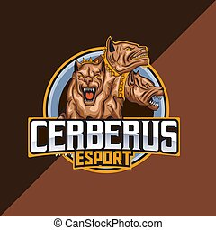 cerberus, logotipo, mascote, modelo