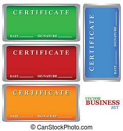 certificados, jogo