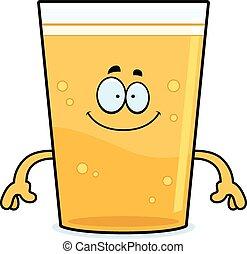 cerveja, caricatura, feliz