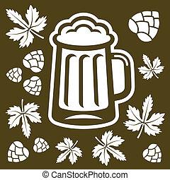 cerveja, projete elementos