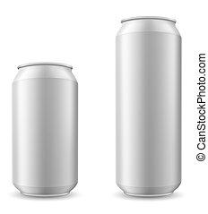 cerveja, vetorial, lata, ilustração