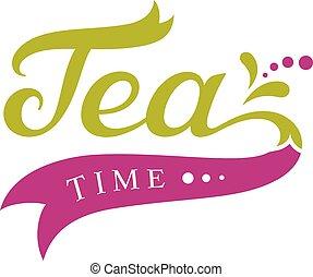 chá, desenho, tempo