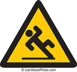 chão molhado, sinal