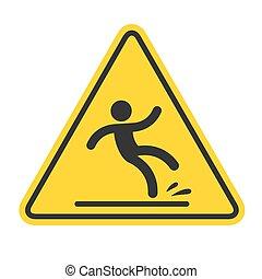 chão, molhados, sinal