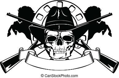 chapéu preto, cranio