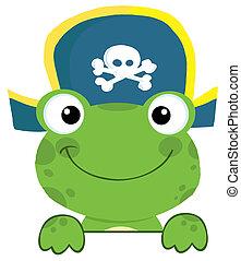 chapéu, rã, pirata