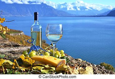 cheese., suíça, vinho, lavaux, região