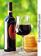 cheese., vinho tinto