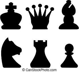 chessmen, símbolos