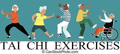 chi, exercícios, tai