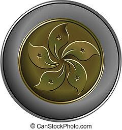 chinês, ouro, dinheiro, vetorial, moeda, prata