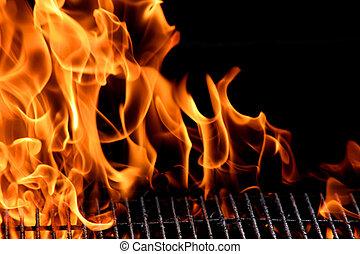 churrasqueira, queimadura, churrasqueira, quentes, ao ar livre, chama, bbq