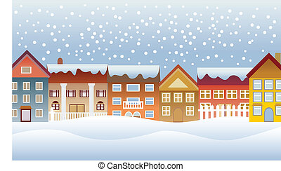 cidade, inverno