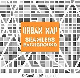 cidade, repetindo, seamless, padrão, trace experiência