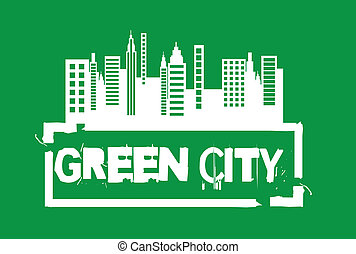 cidade, verde, selo