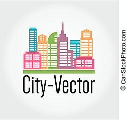 cidade, vetorial