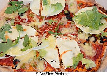 cima, pizza