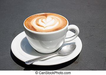 cinzento, café, superfície