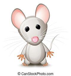cinzento, ratinho