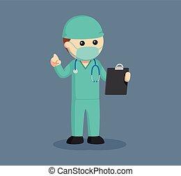 cirurgião, macho, área de transferência