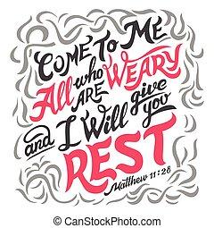 citação, cansado, tudo, bíblia, venha, mim