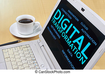citação, transformação, conceito, palavras, digital